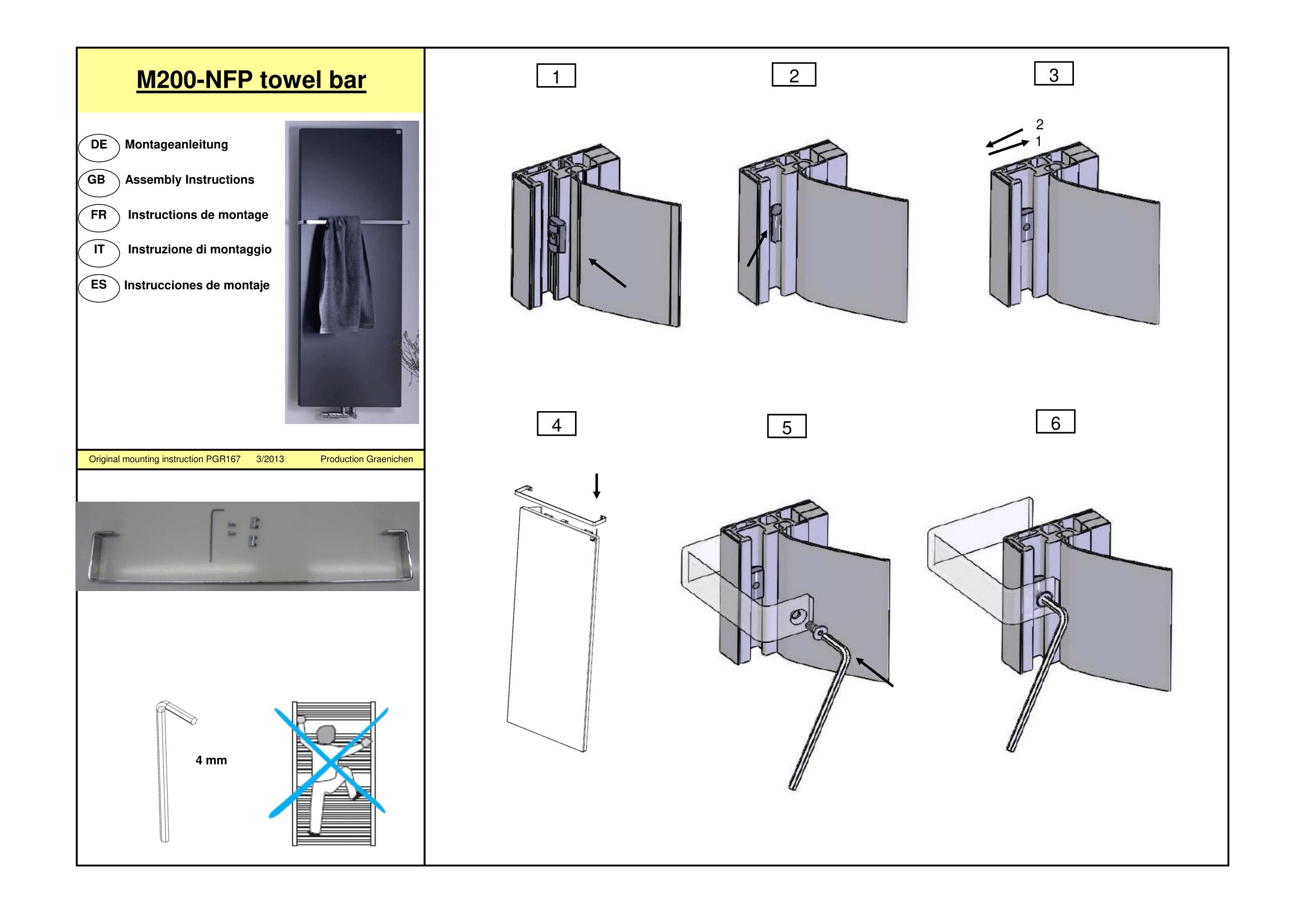 Фотография Инструкция по монтажу дизайнерского полотенцесушителя Zehnder Fina Bar