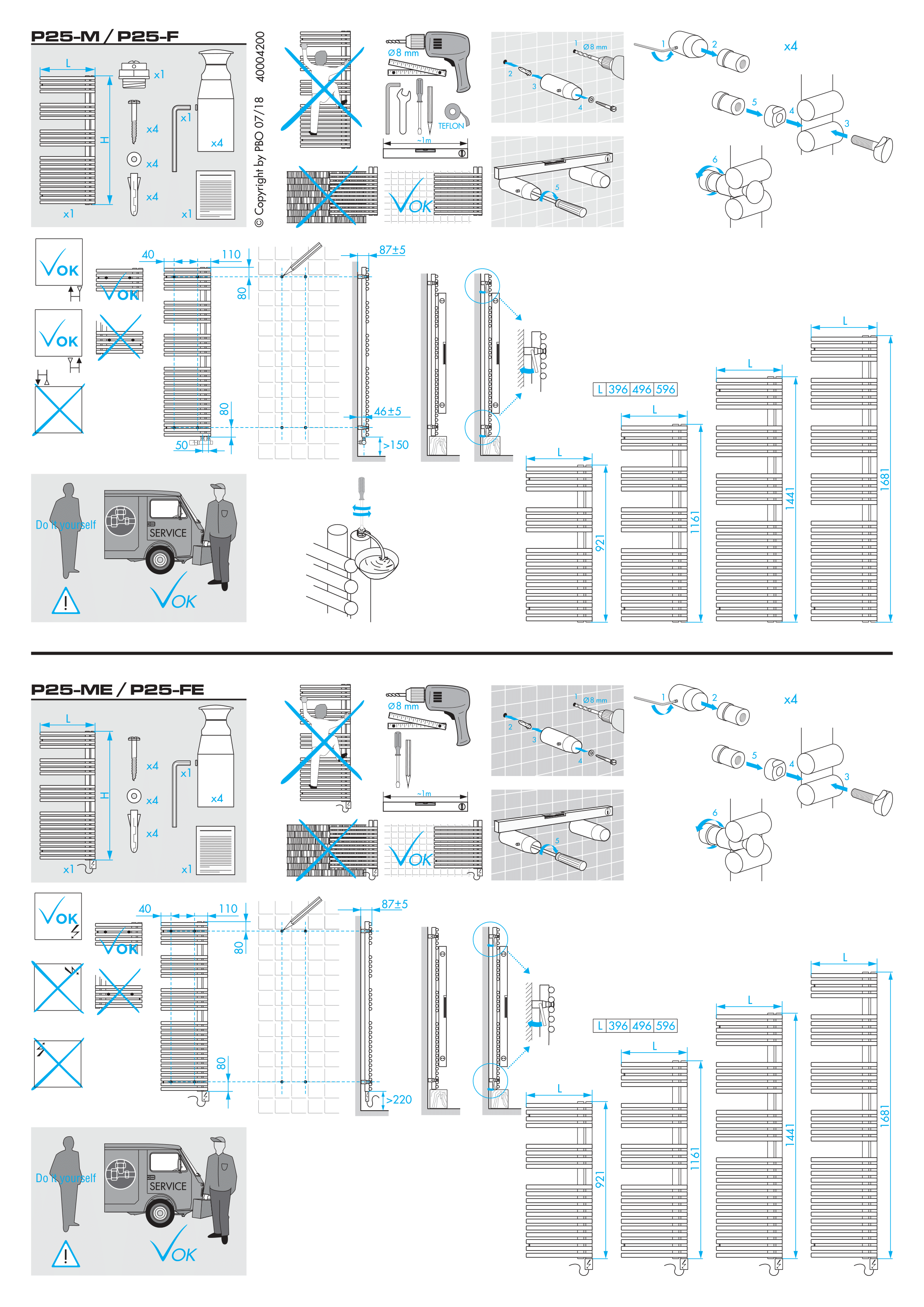 Фотография Инструкция по монтажу для дизайнерского полотенцесушителя Zehnder Forma Asym