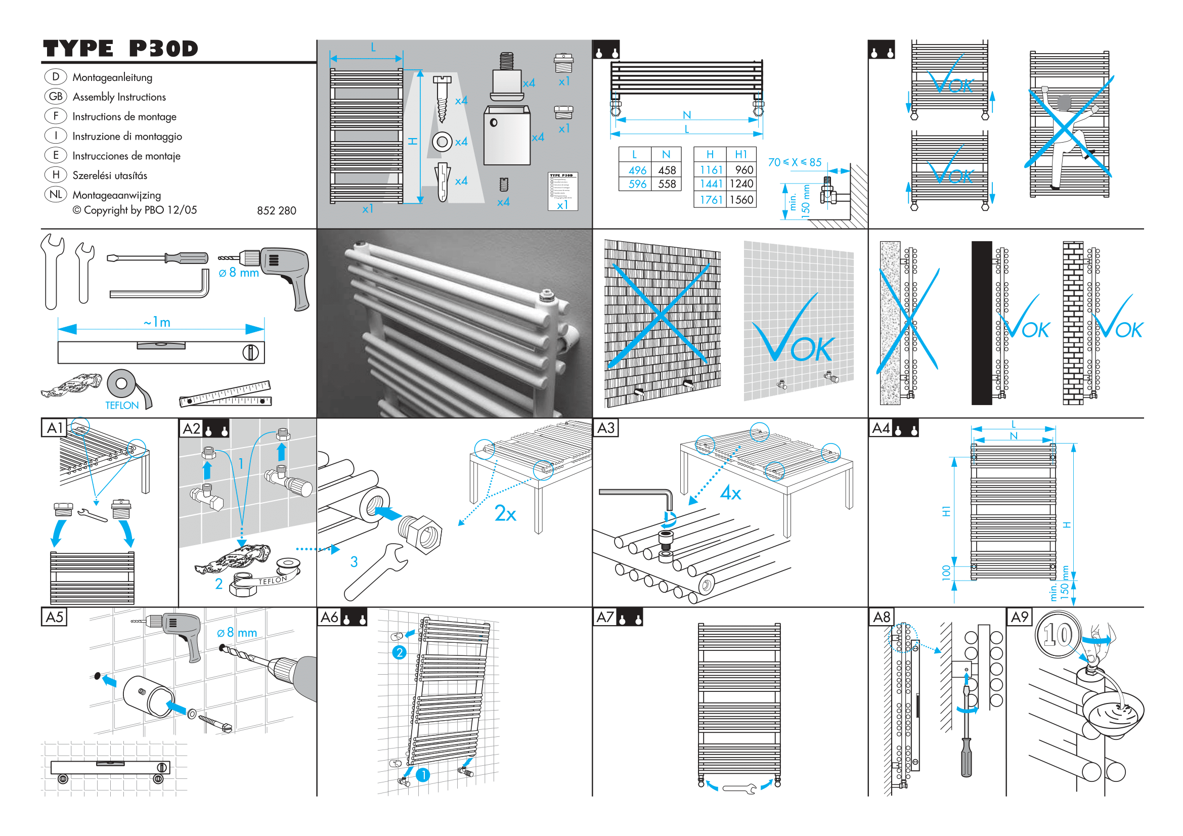 Фотография Инструкция по монтажу дизайнерского полотенцесушителя Zehnder Forma Spa 1