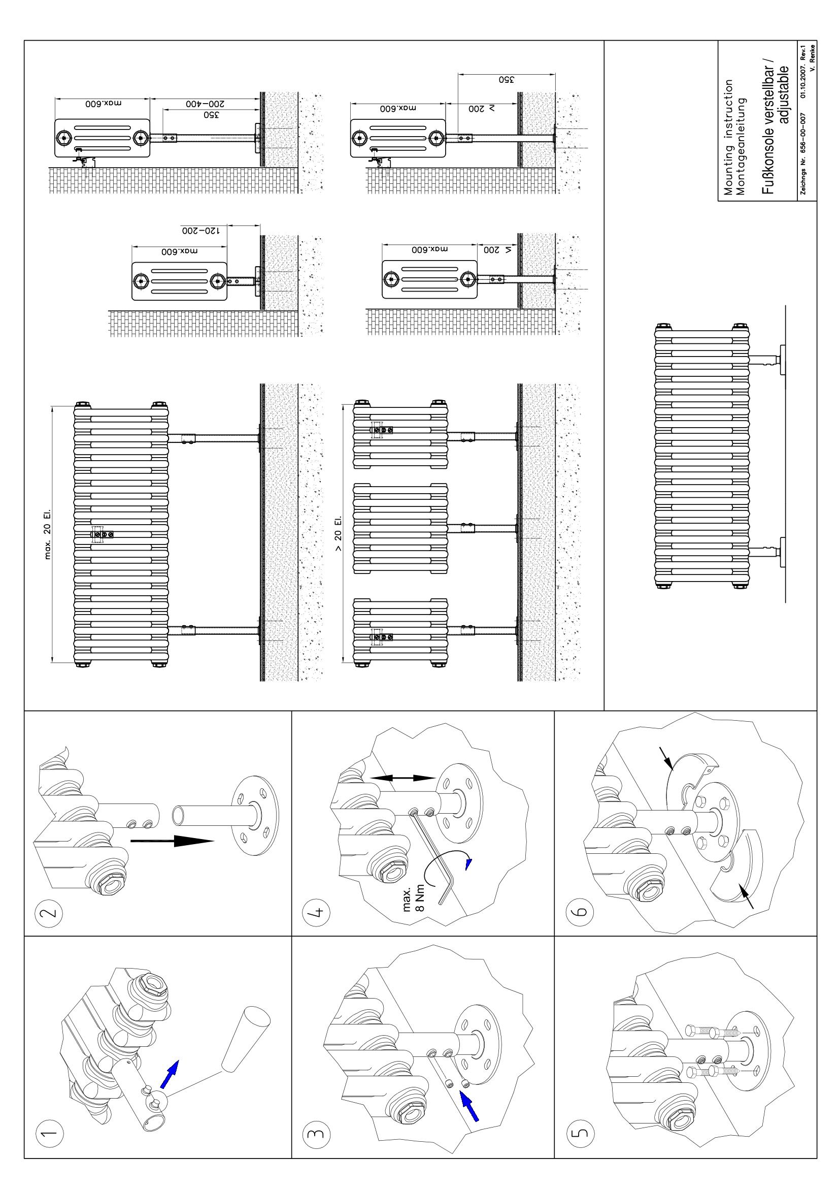 Фотография Инструкция по монтажу дизайнерского радиатора Zehnder Charleston