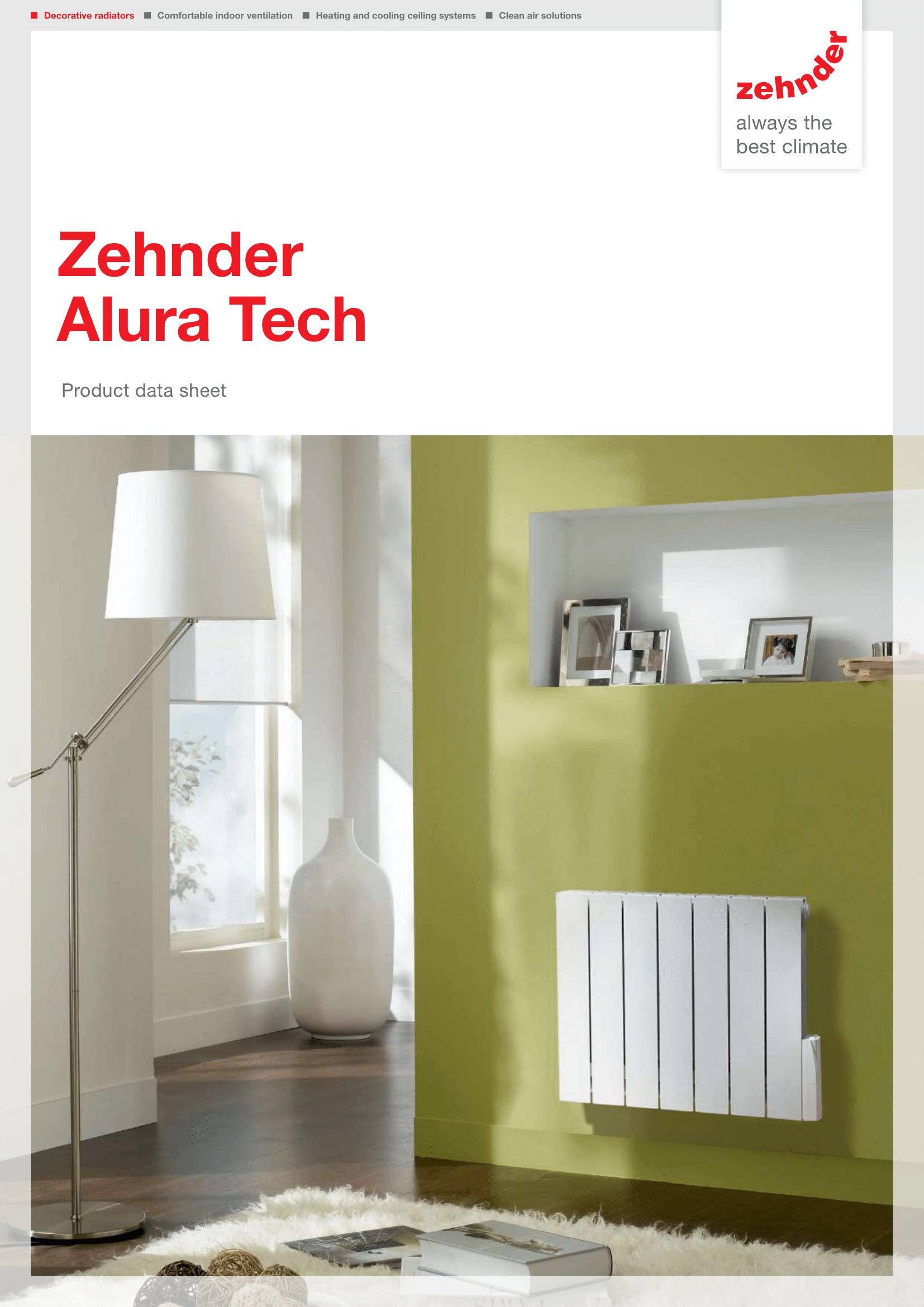 Фотография Описание дизайнерского радиатора Zehnder Alura Tech