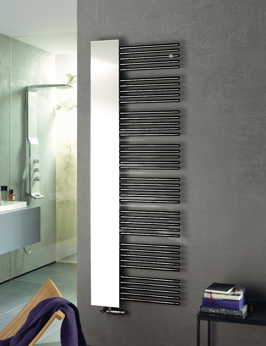 Фотография Дизайнерский полотенцесушитель Zehnder Yucca Mirror 1