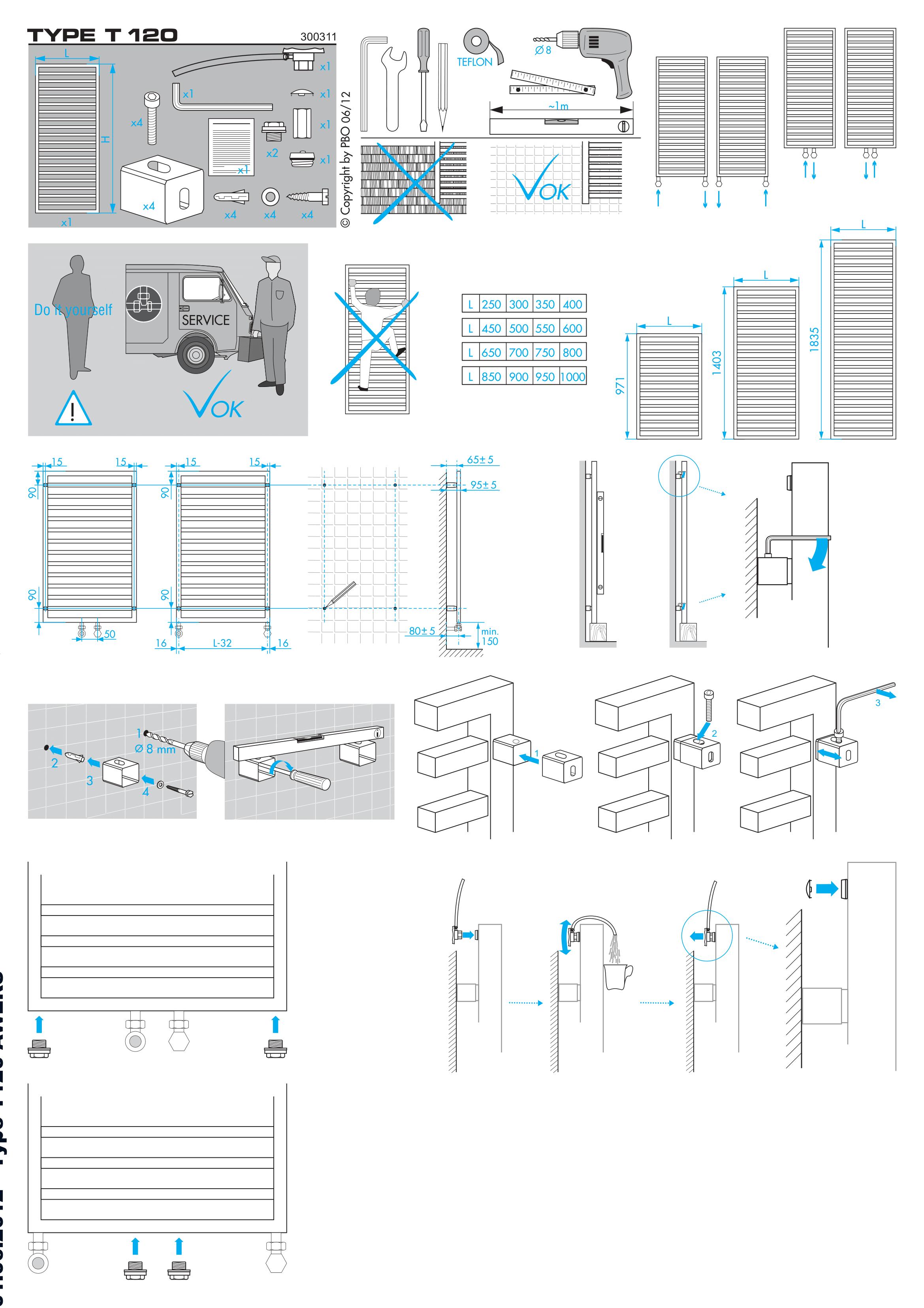 Фотография Инструкция по монтажу дизайнерского полотенцесушителя Zehnder Quaro Inox