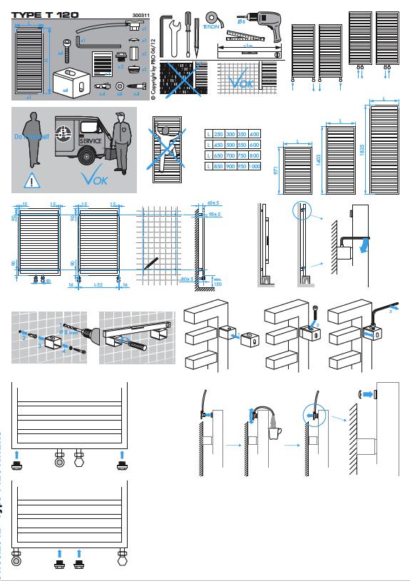 Фотография Инструкция по монтажу дизайнерского полотенцесушителя Zehnder Quaro