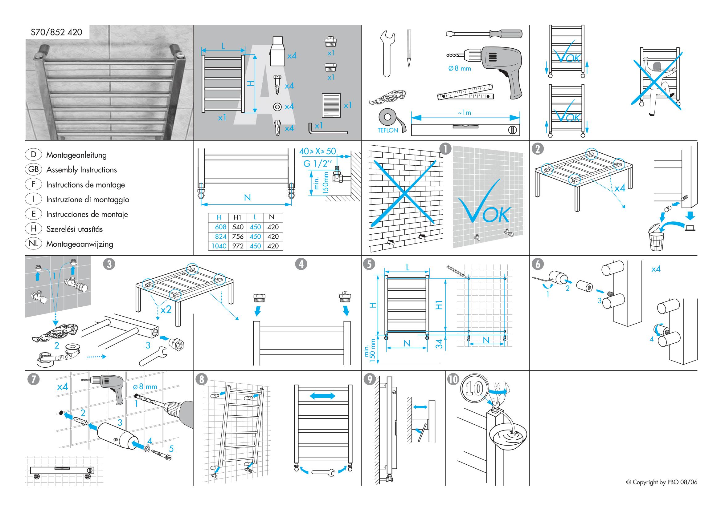 Фотография Инструкция по монтажу дизайнерского полотенцесушителя Zehnder Stalox