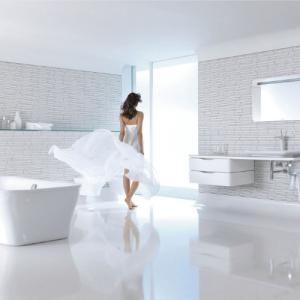 Фотография Ванная комната с интерьером в стиле постмодернизм