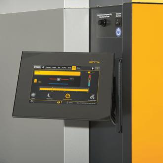 Фотография Твердотопливный котел ETA панель управления