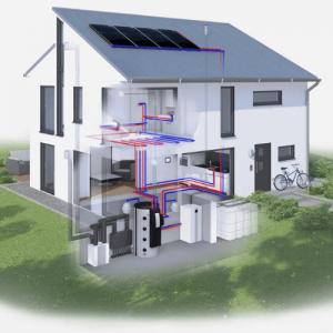 Фотография солнечный коллектор для отопления дома