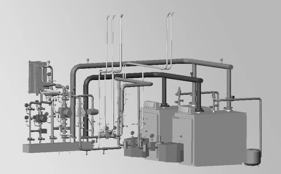 Фотография Пример блочно-модульной котельной с установкой и поставкой оборудования
