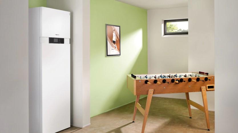 Тепловой насос VITOCAL 242-G с тепловой мощностью: 5,9 - 10 кВт, объем водонагревателя 220 литров
